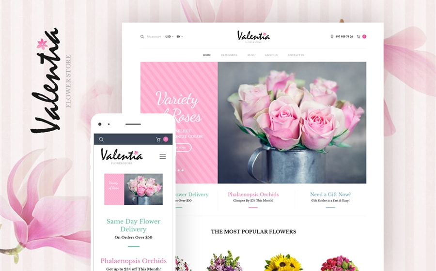 Flower Store WooCommerce Theme