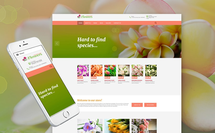 Flowers Joomla Theme