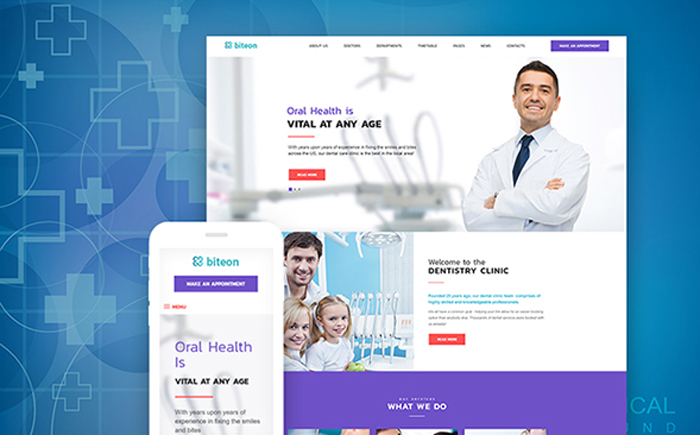 Biteon - Dentistry Clinic Responsive WordPress Theme