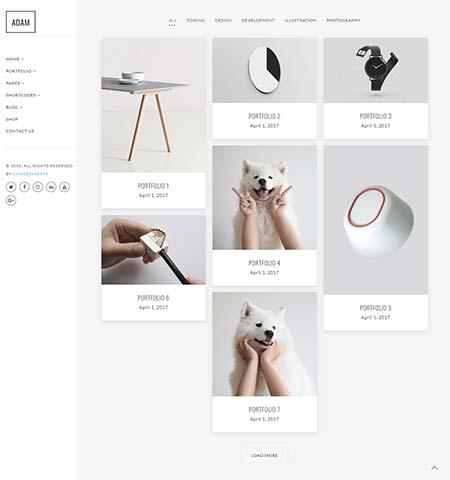 wordpress portfolio template