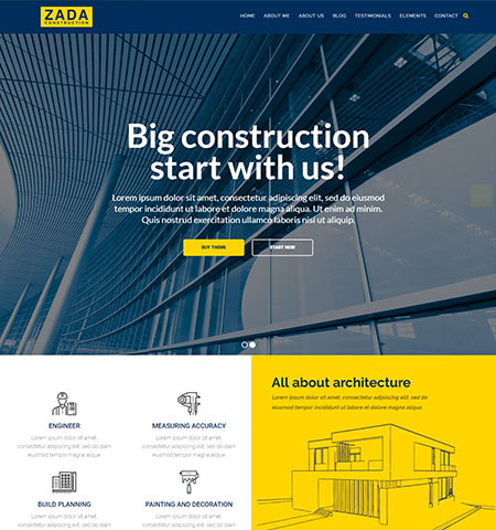 construction WordPress themes