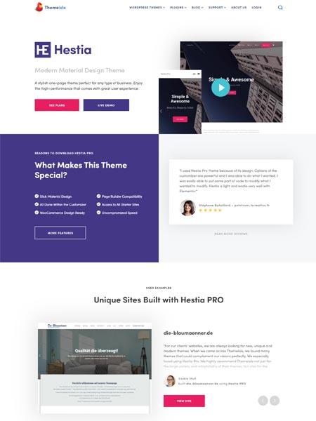 Hestia Best Multipurpose WordPress themes