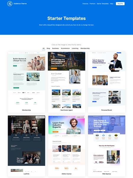kadenceWp Best Multipurpose WordPress themes