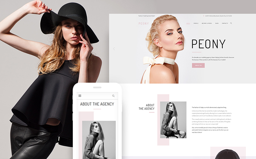 Model Agency WP Theme