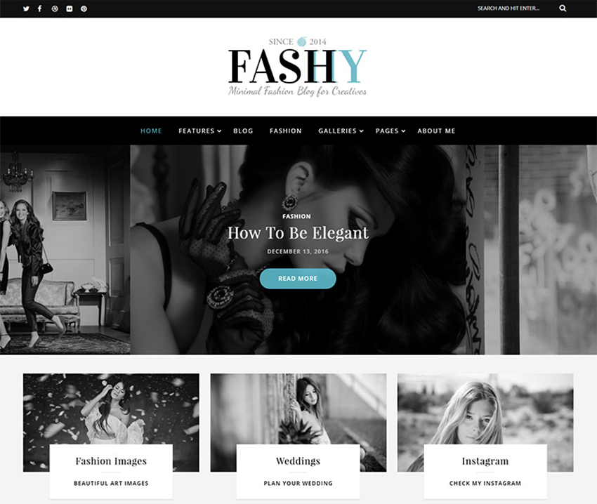 Fashy - Fashion Blog WordPress Theme