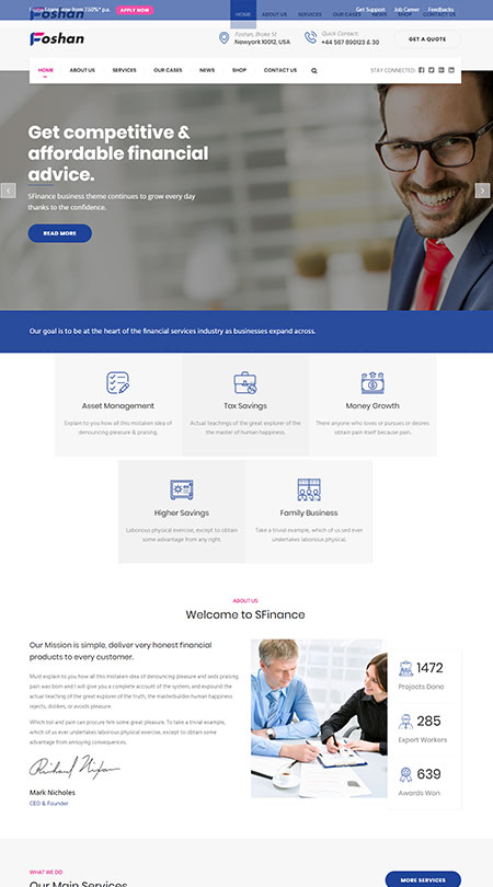 Foshan Corporate wordpress theme