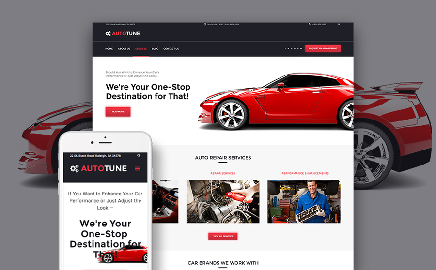Car Tuning WordPress Template