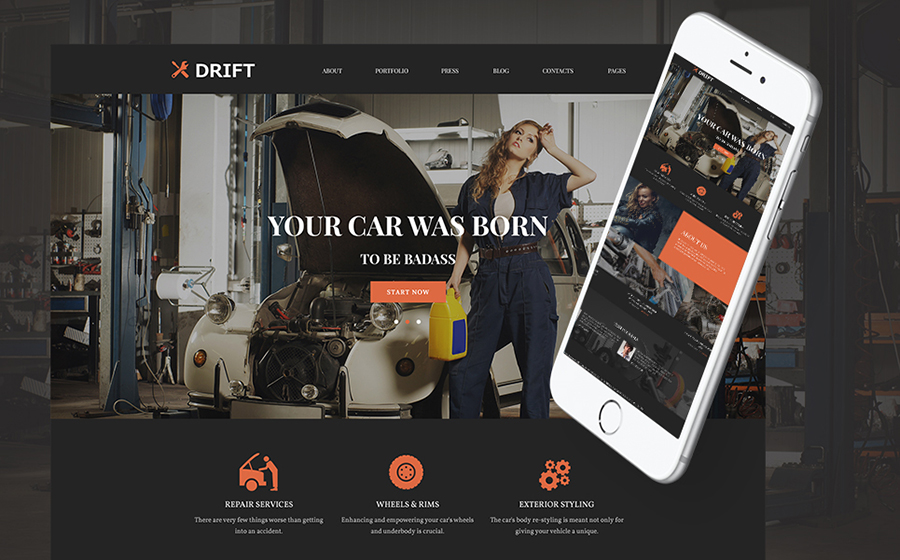 Car Tuning WordPress Theme
