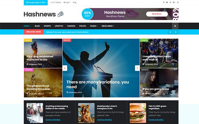 HasNews - Magazine & Newspaper WordPress Theme