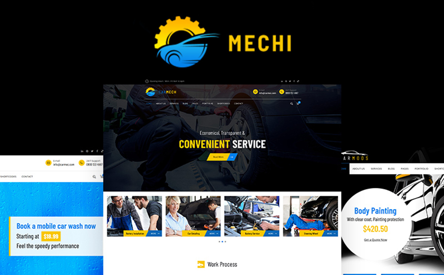 Mechi - Car Mechanic Responsive WordPress Theme