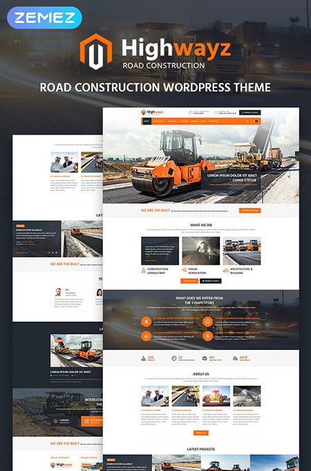 best construction wordpress themes