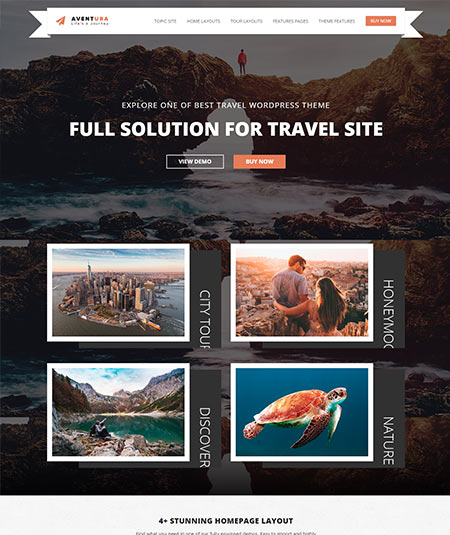 travel booking wordpress theme