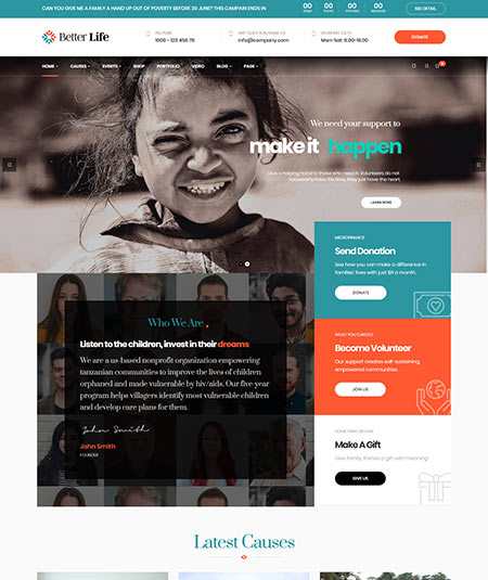 best wordpress themes for nonprofits