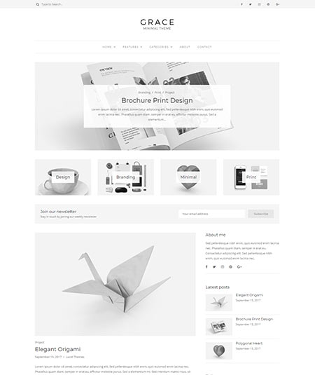 minimalist wordpress blog themes