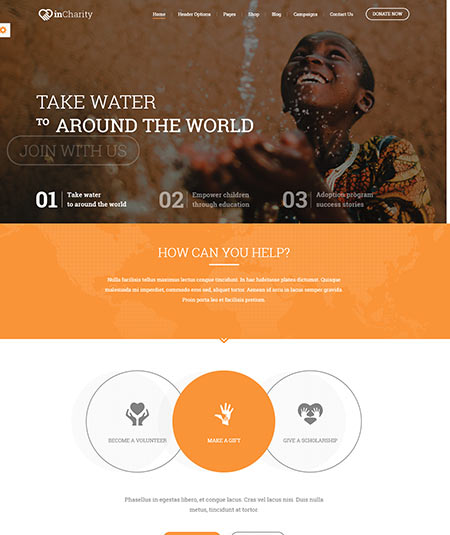 non profit website templates