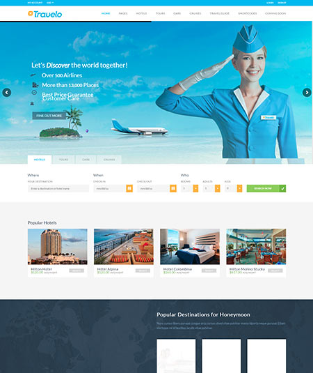flight booking wordpress theme