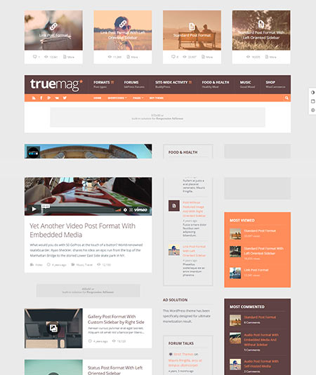 wordpress magazine themes with advertising space
