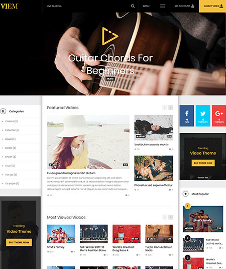 free wordpress themes with advertising space
