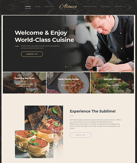 wordpress themes for catering business