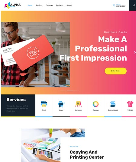printing press wordpress theme