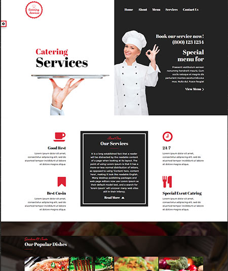 15 best wordpress themes for catering business website goodlywp chef catering business website template flashek Gallery