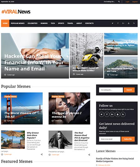 Media News WordPress Theme