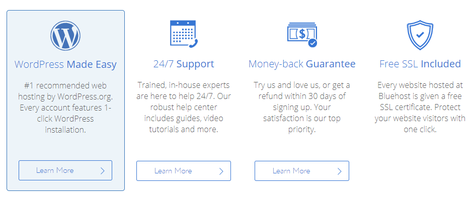 what bluehost offers