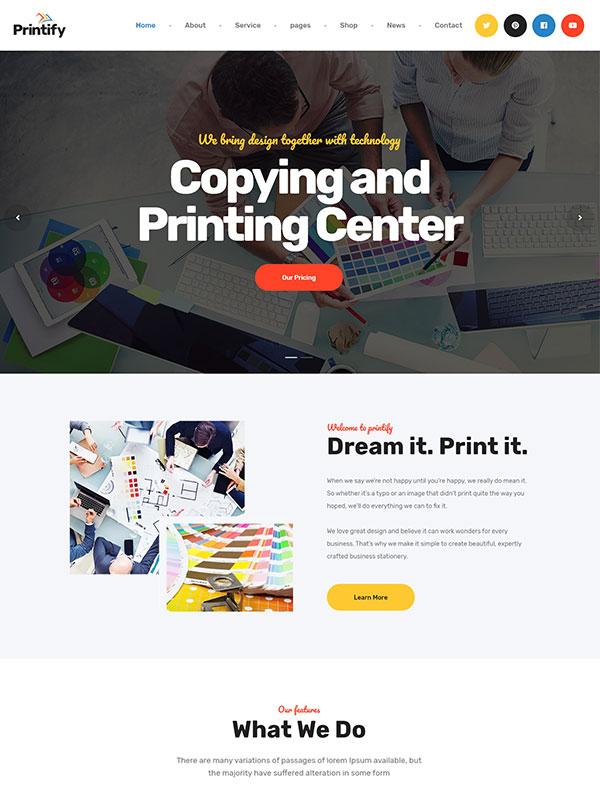 printing press wordpress theme