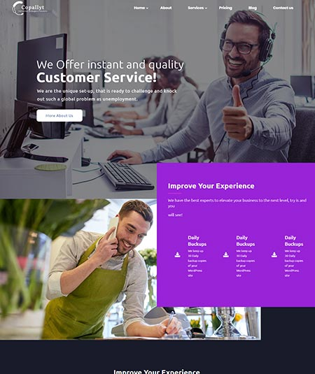 call center wordpress themes