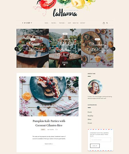 wordpress themes for food blogs