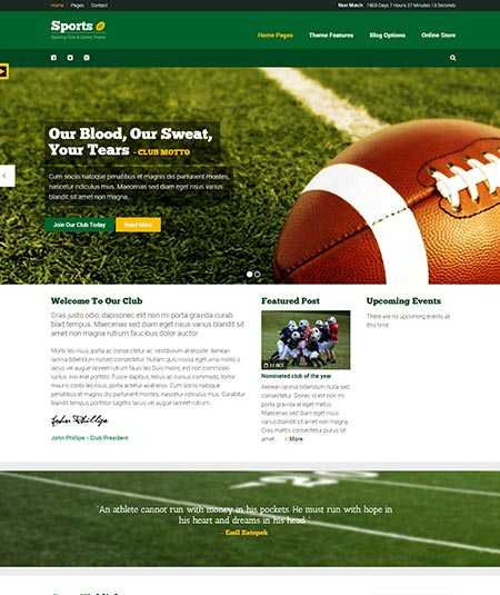 WordPress themes for Clubs and Organizations