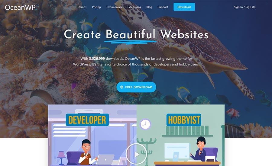 Ocean WP free WordPress themes for Affiliate Marketing