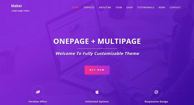 Single Page Maker