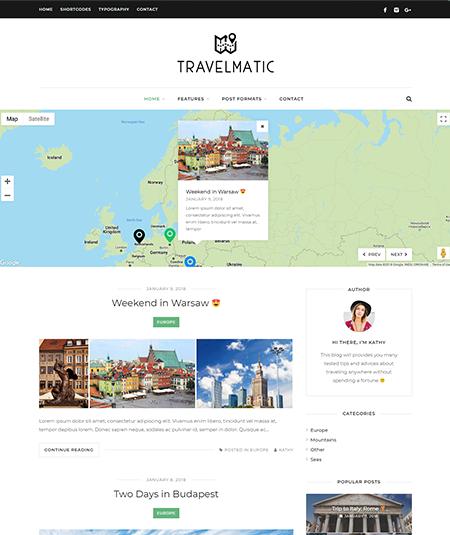 the traveler wordpress theme