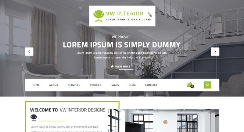 bast free wordpress themes for interior design