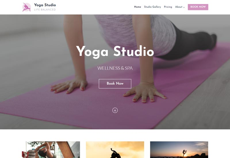 KadnceWP Free WordPress Themes For Yoga Teachers