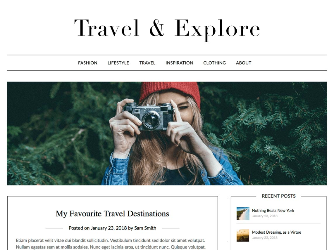 Travel Minimalist Blogger