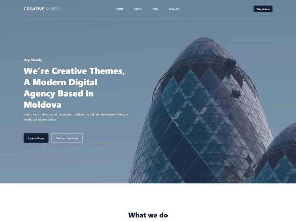 Blocksy business website