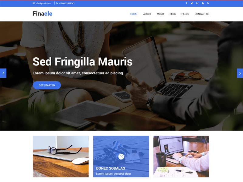 Best free WordPress themes for service business website in 2019