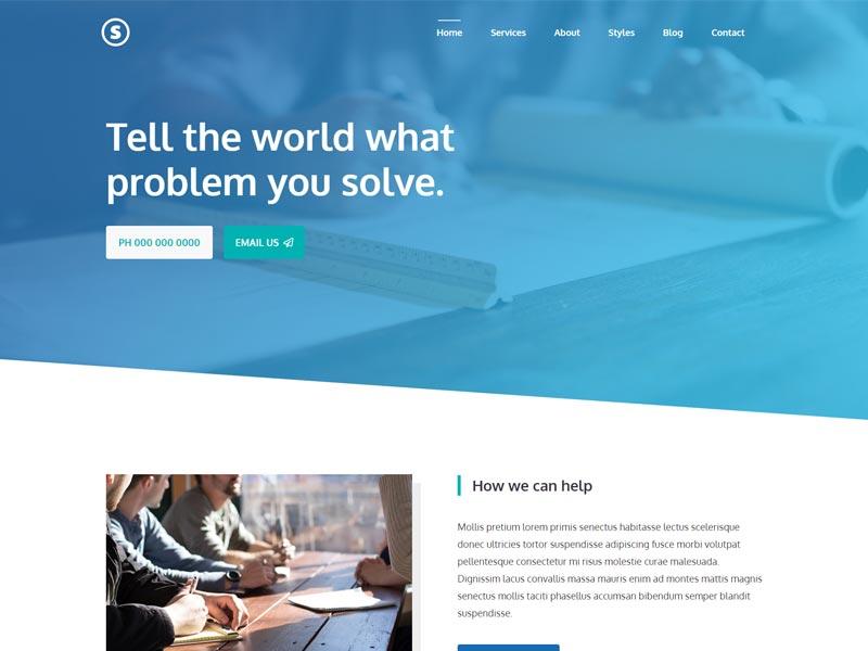 GeneratePress Business service website
