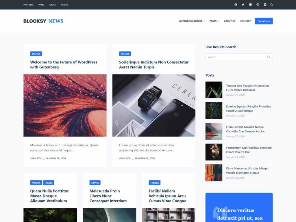 Blocksy - Another Blog Theme