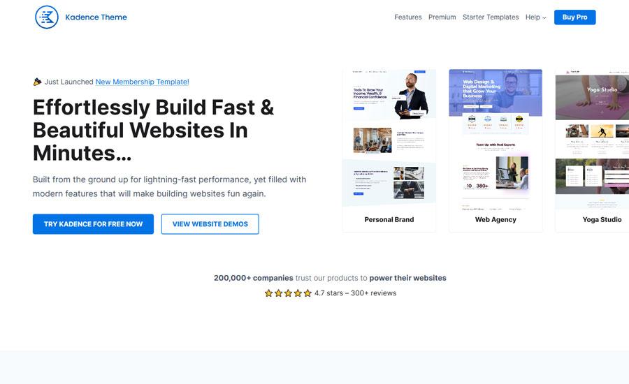 Kadence - free WordPress themes for Affiliate Marketing