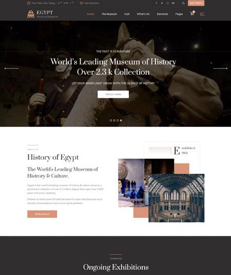 egypt-museum-wordpress-theme