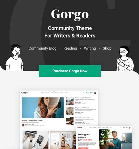 gorgo wordpress social network theme
