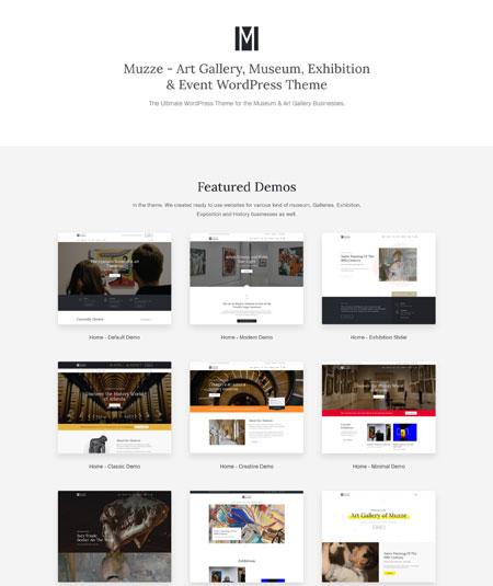 muzze- museum WordPress themes