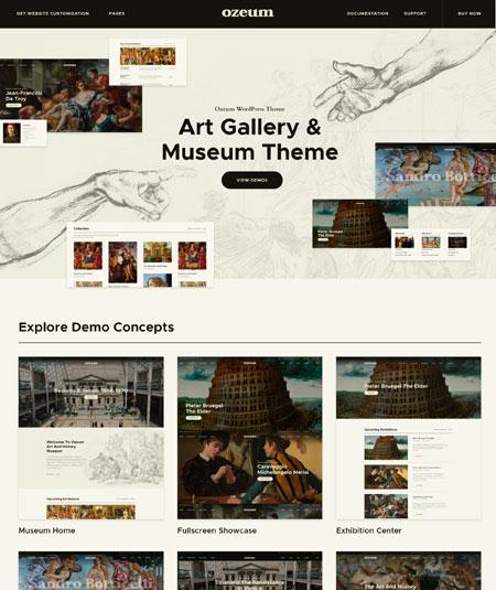 ozeum-museum WordPress themes