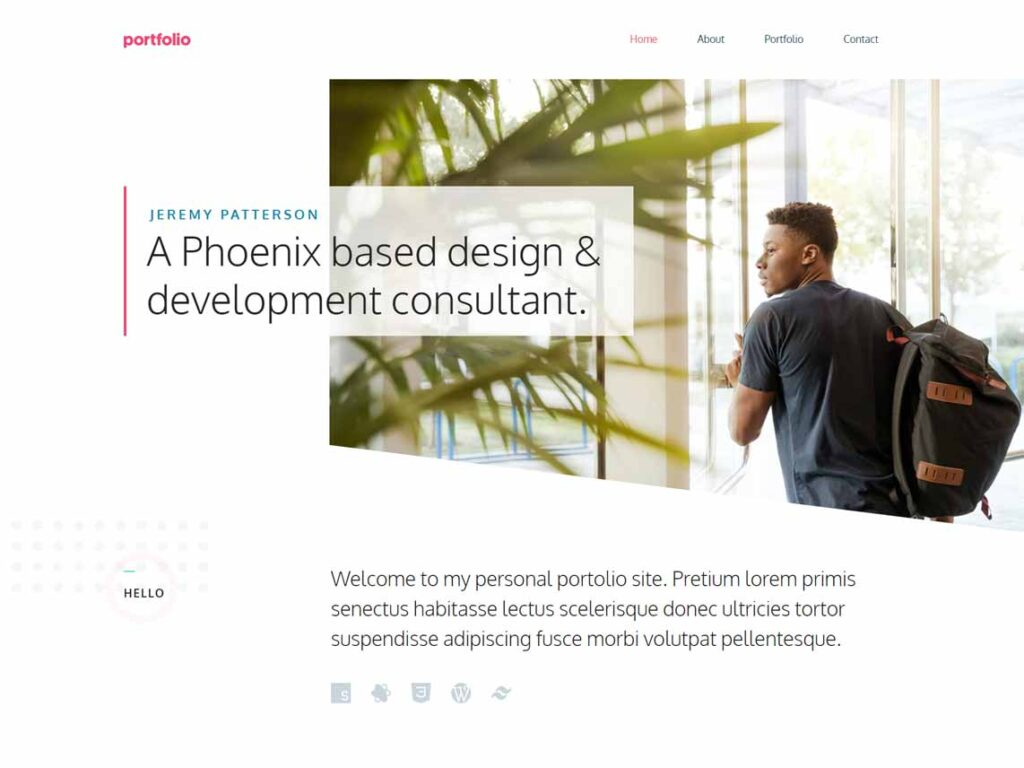 GeneratePress Minimal Portfolio Theme