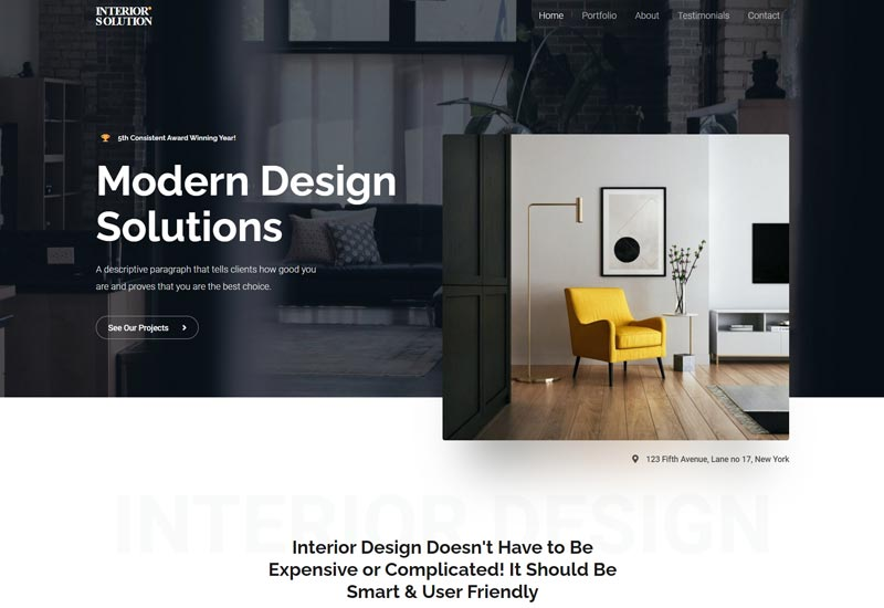 Astra - Free WordPress Themes For Interior Design