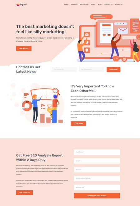 Digitax – WordPress Theme Creative Agency