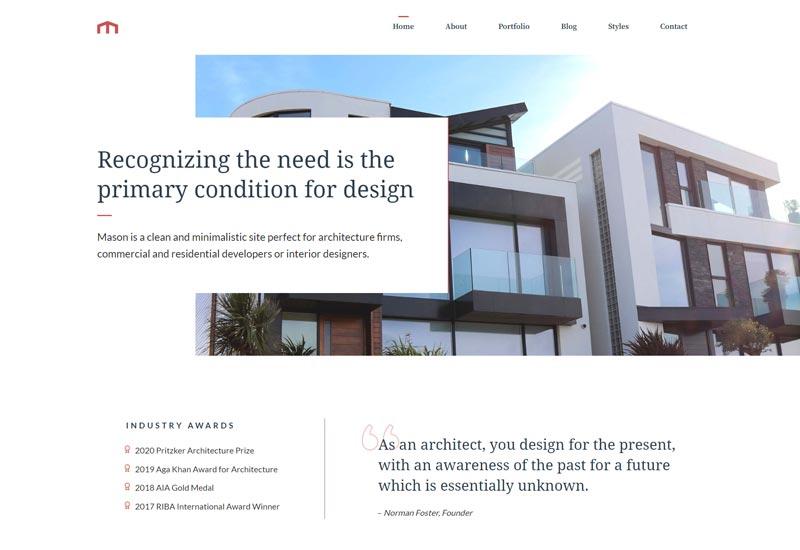 GeneratePress Free WordPress Themes For Interior Design